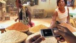 Farmers receive information on improving crop yields by watching how-to videos on their mobile phones.