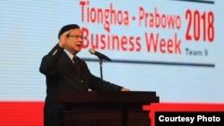 """Capres Prabowo Subianto berbicara dalam acara """"Tionghoa dan Bisnis di Mata Prabowo Subianto"""" di Jakarta, Jumat malam (7/12). (Courtesy: Media Center Prabowo-Sandi)"""