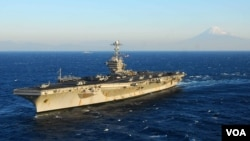 Tàu sân bay USS Washington của Mỹ. Hoa Kỳ đã triển khai hơn 320,000 quân trong khu vực Châu Á-Thái Bình Dương.
