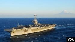 美國喬治.華盛頓號航空母艦(美國海軍官網)