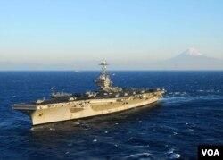 美国乔治•华盛顿号航空母舰(美国海军官网)