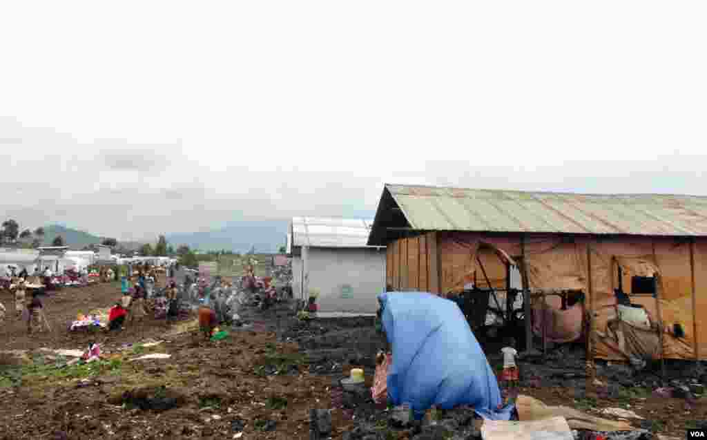 The Mungunga refugee camp near Goma, Democratic Republic of Congo. (Nicolas Pinault/VOA)