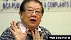 Trưởng Ban Khiếu nại Công cộng đảng MCA, ông Michael Chong. Ảnh chụp màn hình trang web vnexpress.net