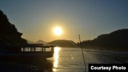 Hoàng hôn trên sông Mêkông ở LuangPrabang, Lào, nơi được UNESCO công nhận là di sản thế giới
