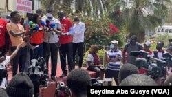 Maimouna Ndour Faye, patronne de presse et plusieurs fois victimes de menaces, à Dakar, le 4 mai 2021.