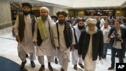 هیات مذاکره کنندۀ طالبان (عکس از آرشیف)