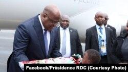 Président Félix Tshisekedi akomi na Nairobi, na Kenya epayi wapi akozala na bokutani ya libwa ya bakambi ya bikolo ACP (Afrique Caraïbes Pacifique), 9 décembre 2019. (Facebook/Présidence RDC)