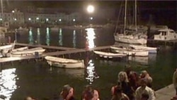 Amateur Video from Cruise Liner Wreck in Italy