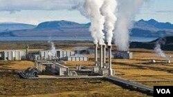 Gambar ilustrasi pembangkit tenaga listrik dengan menggunakan tenaga panas bumi. (Foto: Dok)