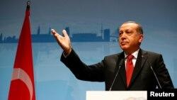 Recep Tayyip Erdogan, sommet du G20, Hambourg, Allemagne, le 8 juillet 2017.