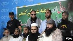 سید صلاح الدین در جریان یک کنفرانس مطبوعاتی در ماه جون سال جاری در کشمیر