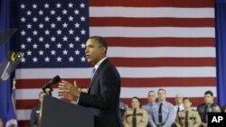 Tổng thống Obama trình bày những đề nghị ngăn bạo động do súng đạn gây ra tại Sở Cảnh sát Minneapolis, bang Minnesota, 4/2/13