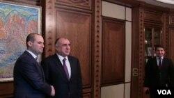 Elmar Məmmədyarov və Mixail Canelidze