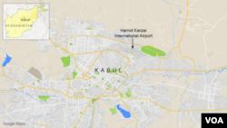 Letak kota Kabul, Afghanistan