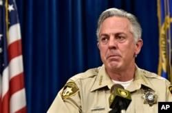 FILE - Sheriff Joe Lombardo of the Las Vegas Metropolitan Police Department speaks at a news conference, Dec. 21, 2015, in Las Vegas.
