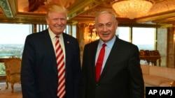 د واشنگټن په دوره د اسرائیل وزیراعظم بینجمن نیټن یاهو سره په وایټ هاوس کې د شورو، چارشنبې، په ورځ په شریک خبري کانفرنس کې صدر ټرمپ وویل اسرائیل او فلسطییان به د امن دپاره په خپله کوښښونه کوي
