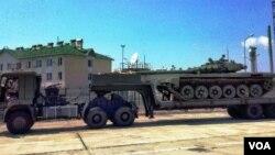 Т-72Б3 ტიპის ტანკი ოკუპირებულ აფხაზეთში, 23.07.2017