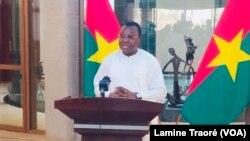 Ousséni Tamboura, porte-parole du gouvernement, Ouagadougou le 31 mars 2021.