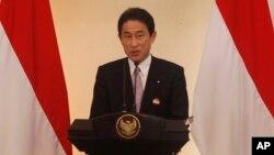 기시다 후미오 일본 외무상 (자료사진)