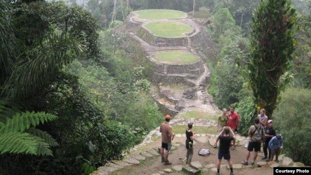 Después de cinco días de camino se llega a Ciudad Perdida en la Sierra Nevada de Santa Marta, Colombia. Lugar sagrado de los Taironas. [Foto: Jesús Erney Torres]