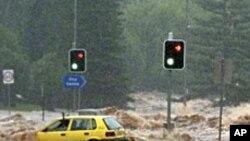 هشدار وقوع سیلاب وبادهای تند به ایالت ویکتوریا