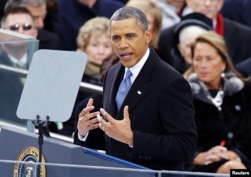 美国总统奥巴马连任就职演说