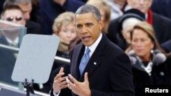奥巴马总统宣誓就职开始第二任期