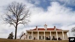 Ngôi nhà của Tổng thống đầu tiên của nước Mỹ George Washington tại Mount Vernon trong bang Virginia.