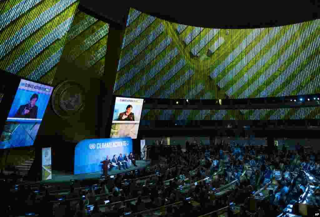 رهبران کشورهای جهان در سازمان ملل در نشست اقدام برای تغییرات آب و هوایی شرکت کردند. آنها امیدوارند موجب کاهش گرمایش زمین شوند.