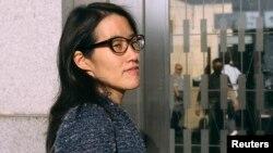 미국 실리콘 벨리에 위치한 '클라이너 퍼킨스 사'를 상대로 성차별 소송을 낸 엘런 파오 씨가 지난 3일 샌프란시스코 상급 법원에 도착했다.