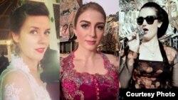 Seniman AS, Hannah Standiford, Andrea Decker, Megan O'Donoghue, yang cinta Indonesia (Dok: pribadi)