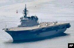 일본 해상자위대는 이즈모급 헬기 탑재 호위함.