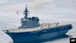 일본 해상자위대는 이즈모급 헬기 탑재 호위함. (자료사진)
