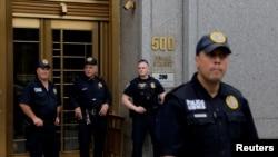 Здание суда, гда проходят слушания по делу Джеффри Эпштейна