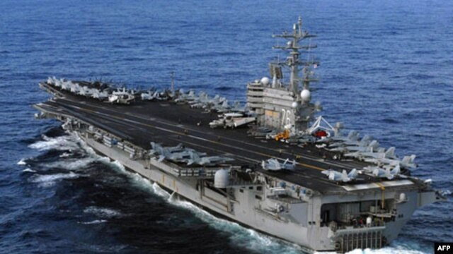 Hàng không mẫu hạm USS Ronald Reagan đã đến bờ biển Nhật Bản ngày 12/3/2011 để tham gia sứ mạng cứu trợ