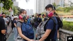 参加香港抗议活动的民众。(2019年8月5日)