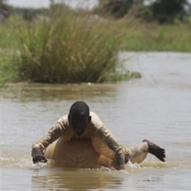 This year, heavy rains have washed away crops and flooded towns in Nigeria.