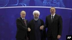 دیدار رؤسای جمهوری آذربایجان، ایران و روسیه در تهران - ۱ نوامبر ۲۰۱۷