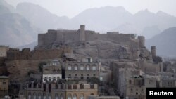 A view of the historical Radda castle, overtaken by al Qaeda militants, southeast of Yemeni capital, Sana'a, Jan. 15, 2012.