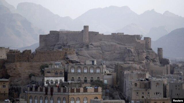 A view of the historical Radda castle, overtaken by al Qaeda militants, southeast of Yemeni capital, Sana'a, Jan. 15, 2012.