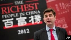 Rupert Hoogewerf, penerbit publikasi bulanan Hurun Report, mengatakan, China daratan memiliki milyuner lebih banyak daripada AS (foto: dok).