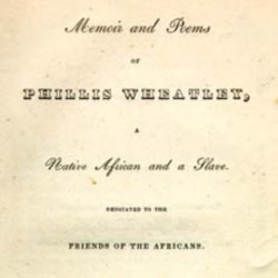 "Wheatley's ""Memoirs and Poems"" was published in 1834"