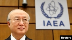 아마노 유키아 국제원자력기구 사무총장이 28일 오스트리아 빈에서 열린 이사회에서 북한 영변 원자로 재가동 가능성을 언급했다.