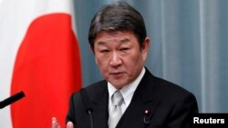 ဂ်ပန္ႏိုင္ငံျခားေရးဝန္ႀကီး Toshimitsu Motegi (REUTERS/Issei Kato/File)