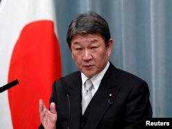 Menteri Luar Negeri Jepang Toshimitsu Motegi. (REUTERS/Issei Kato)