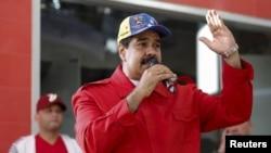 FILE - Venezuela's President Nicolas Maduro speaks in Caracas, Dec. 1, 2015.