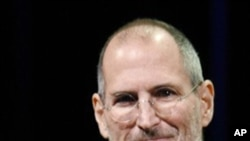 蘋果公司共同創始人和首席執行官史蒂夫.喬布斯(資料照片)