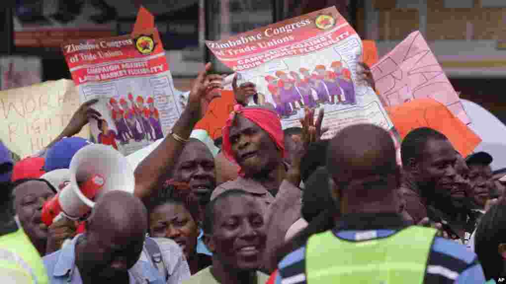 Zimbabwe Workers Demonstration
