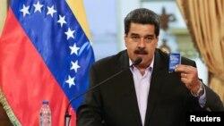 រូបឯកសារ៖លោកប្រធានាធិបតី Nicolas Maduro នៃប្រទេសវេណេស៊ុយអេឡា