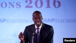 Jovenel Moise, kandida prezidansyèl venkè sou banyè pati politik PHTK nan eleksyon 20 novanm 2016 yo.